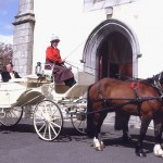 Convertible Glass Landau Wedding Carriage